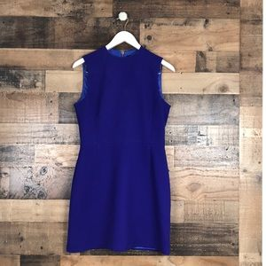 French Connection Blue sleeveless career dress 12